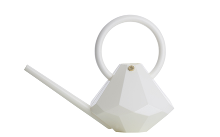 GARDEN GLORY | DIAMOND WATERING CAN - WHITE