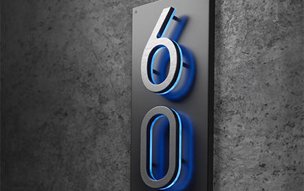 LUXELLO | PANEL BACKPLATE FOR NUMBERS
