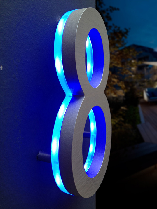 Numbers are designed by luxello 2012 modern illuminated house numbers