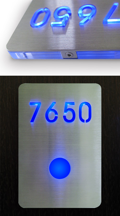Led Room Number Sign Luxello