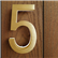 Modern Brass LED House Numbers 5