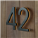 Modern Bronze House Numbers Illuminated