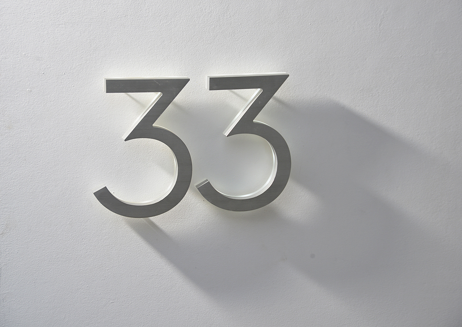 Modern 8 Quot Neutra House Numbers Led Backlit Luxello