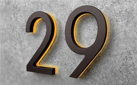 LUXELLO | MODERN 8 BRONZE LIGHTED NUMBERS & LETTERS