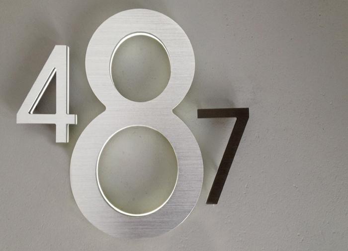 Modern 8 backlit led house numbers