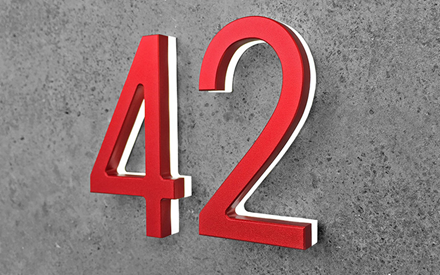 LUXELLO | MODERN RED 8 LED HOUSE NUMBERS