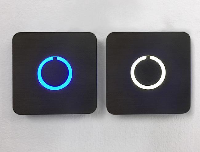 Square Modern Doorbell Button Luxello