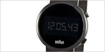 MODERN WATCHES | BRAUN ROUND DIGITAL WATCH