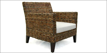 RATTAN &  WICKERS | SKIN BROWN ARMCHAIR