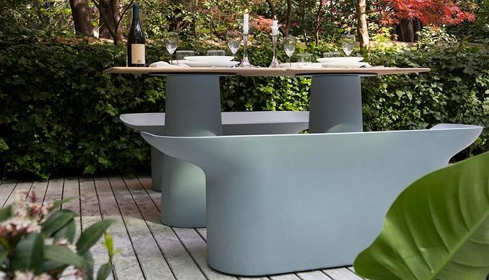 Luba garden bench serralunga furniture for Serralunga furniture