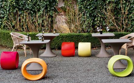 Cero outdoor stool serralunga furniture for Serralunga furniture